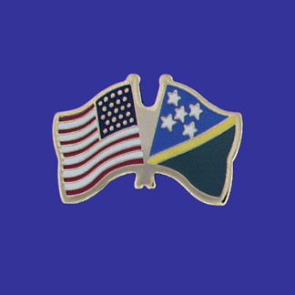 USA+Solomon Islands Friendship Pin-0