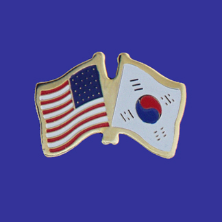 USA+South Korea Friendship Pin-0