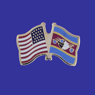 USA+Swaziland Friendship Pin-0