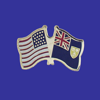 USA+Turks & Caicos Friendship Pin-0