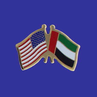 USA+United Arab Emirate Friendship Pin-0