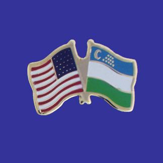 USA+Uzbekistan Friendship Pin-0