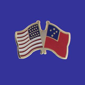 USA+Western Samoa Friendship Pin-0