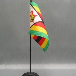 """Zimbabwe Flag-4"""" x 6"""" Desk Flag-0"""