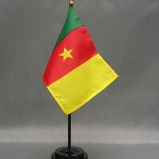"""Cameroon Flag-4"""" x 6"""" Desk Flag-0"""