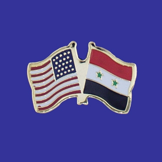 USA+SyriaFriendship Pin-0