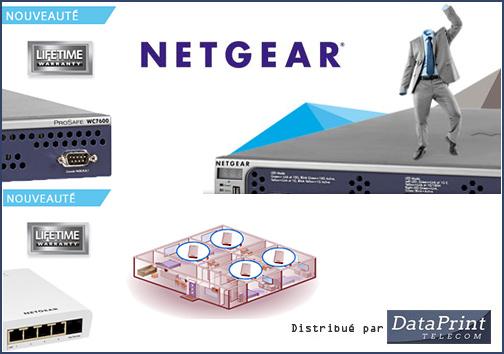 Contrôleur et borne d'accès WiFi ProSAFE de Netgear, distribués par DataPrint