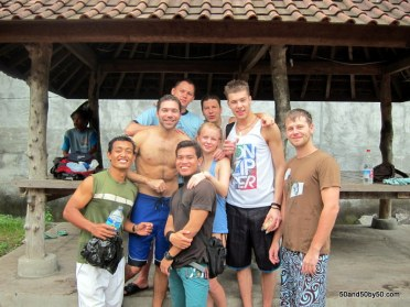 Bali SCUBA diving crew after learning to scuba dive and getting PADI certified