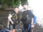 my new scuba friends while getting dive certified during my first scuba dive