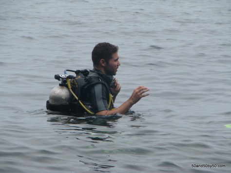 Photo taken as I was starting the confined water dive section of the PADI certification as I was learning to scuba dive