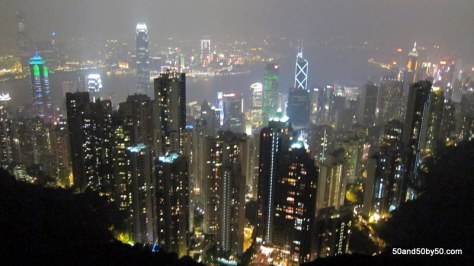 View from Hong Kong from Victoria Peak, the best place to view the HK skyline