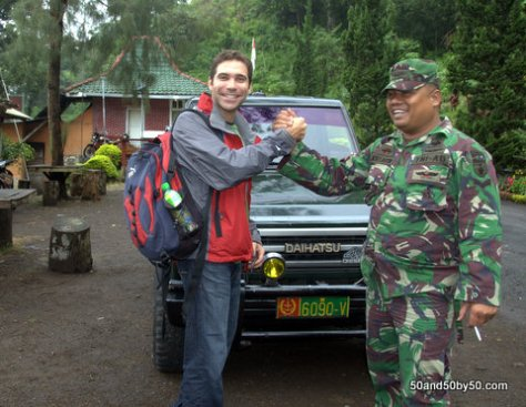 military escort for our road trip to Kawah Ijen