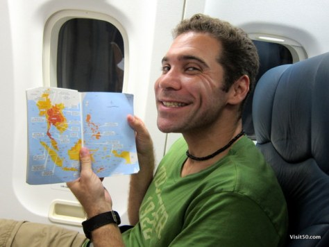 I planned more of my trip on the flight