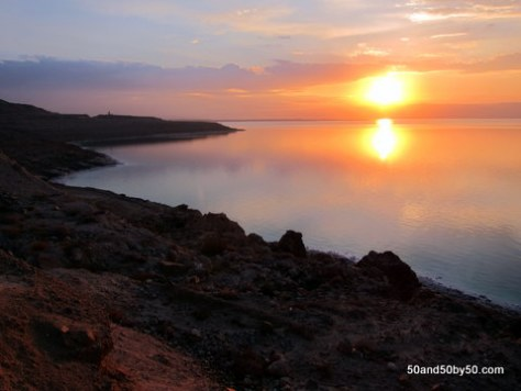 Dead Sea Sunset in Jordan