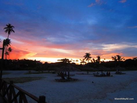 sunset in Mabul island in Borneo