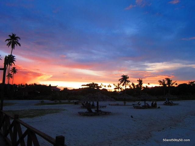 sunset in Mabul island borneo