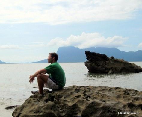 enjoying the view at Bako island in Bako Borneo