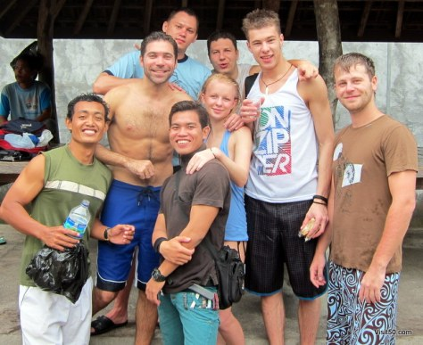 after SCUBA diving in Bali