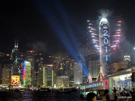 Hong Kong - International Commerce Center on New Year's Eve 2010-2011