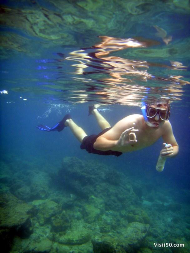 Fish food innovation - Philippines Snorkeling in Malapascua - Visit50.com