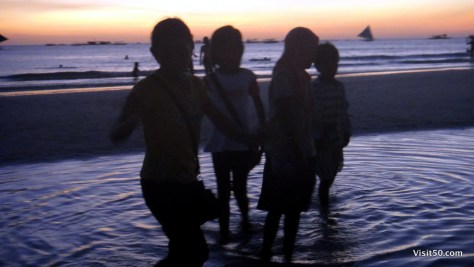 Sunset Silhouettes - Boracay Beach fun