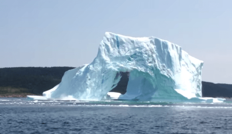 Iceberg before it starts breaking up - in Newfoundland, Canada