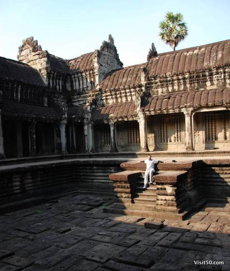 "The ""swimming pool"" at Angkor Wat"