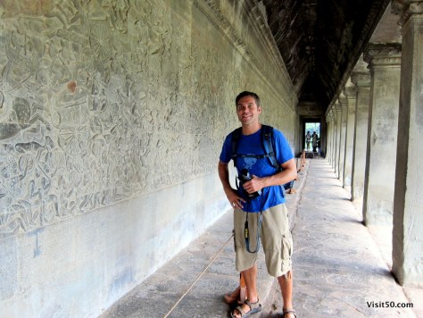 in the halls of Angkor Wat