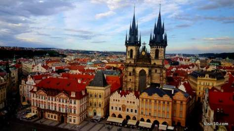 Prague has fairytale architecture! It was a highlight of my backpacking Europe trip