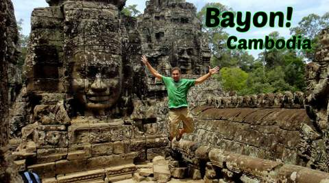 Bayon temple in Angkor Thom might be the most impressive Ruins in Angkor Wat Cambodia