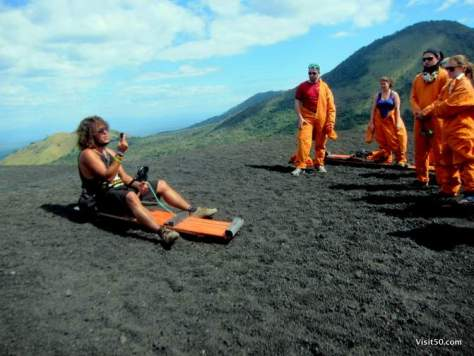 guide explains how to go volcano sledding