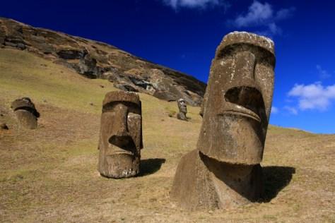 Moai at Rano Raraku - Easter Island