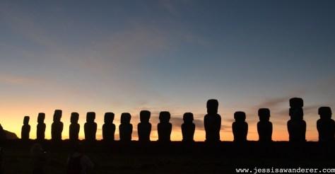 Sunrise Ahu Tongariki Easter Island