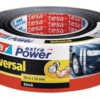 Tesa Tape 56389-00001-05 - Rollo Cinta Americana, 50 m x 50 mm, Negro