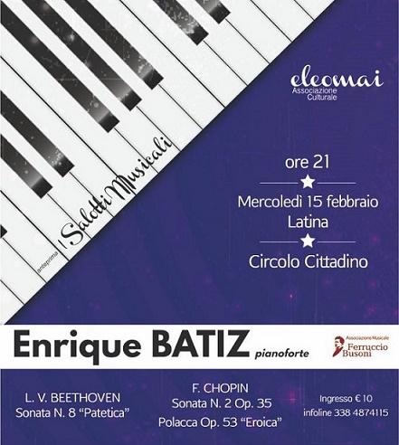 Concerto Enrique Batiz al Circolo Cittadino – Latina