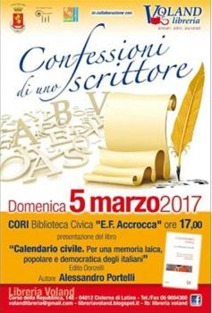 Confessioni di uno scrittore. Alessandro Portelli con Calendario Civile