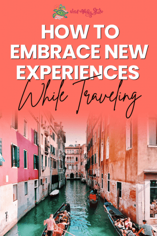 New travel experiences, Italy, canal, boat, pink buildings