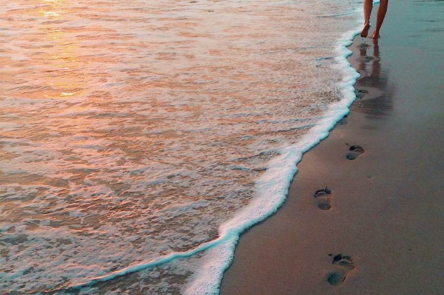 Image result for walk on the beach