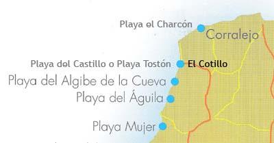 Playas en El Cotillo