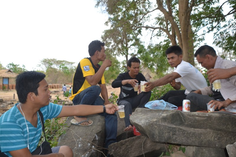Khmer New Year with friends in Banteay Chhmar