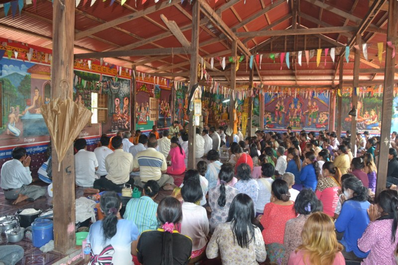 Praying in the pagoda