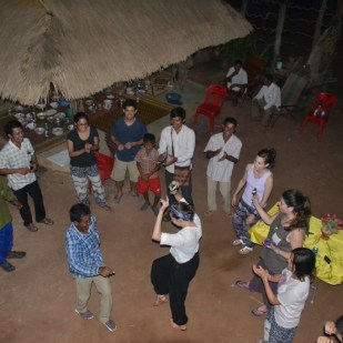 Khmer dancing at a homestay