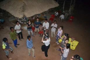 Khmer dancing at a homestay
