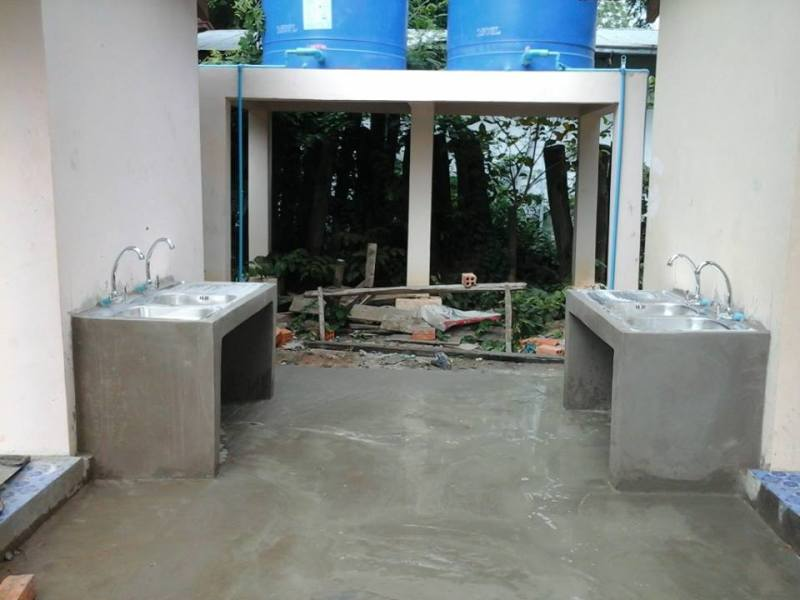 Handwashing stations provided by Operation Groundswell