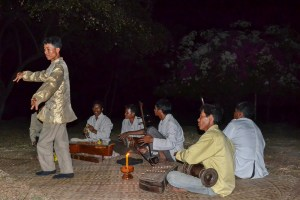 Traditional music in the temple