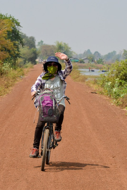 Biking by the baray