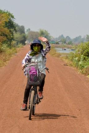 Biking by the baray