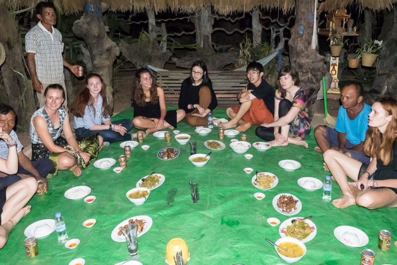 Great Khmer food and new friends