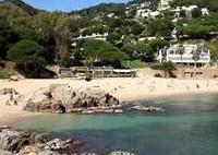 Cala Bona beach in Blanes