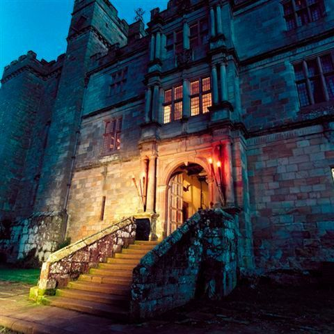 Northumberland - Chillingham Castle at night